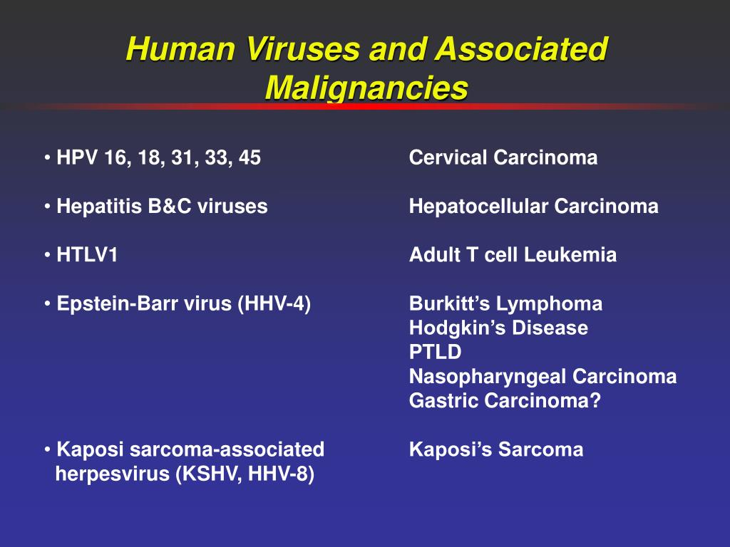 Human Viruses and Associated Malignancies
