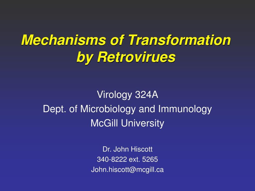 Mechanisms of Transformation by Retrovirues
