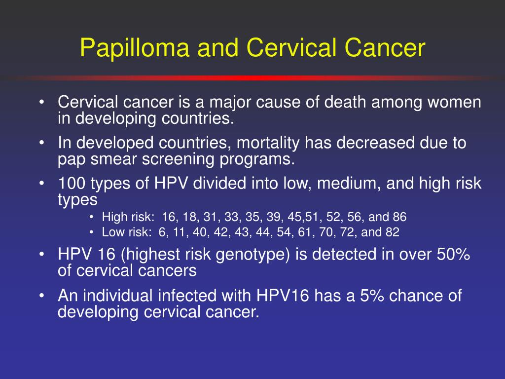 Papilloma and Cervical Cancer
