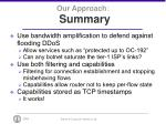 our approach summary