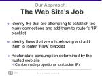 our approach the web site s job