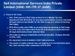dell international services india private limited 2008 305 itr 37 aar