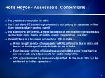 rolls royce assessee s contentions