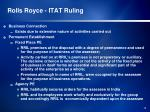 rolls royce itat ruling
