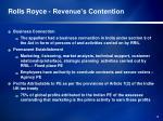 rolls royce revenue s contention