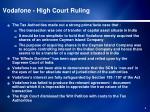vodafone high court ruling
