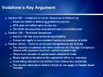 vodafone s key argument