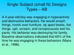 single subject small n designs types ab20