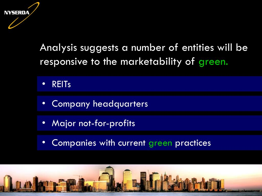 Analysis suggests a number of entities will be responsive to the marketability of