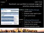 benchmark your portfolio to evaluate usage and prioritize among properties