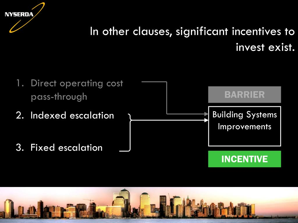 In other clauses, significant incentives to invest exist.