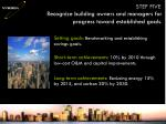 recognize building owners and managers for progress toward established goals