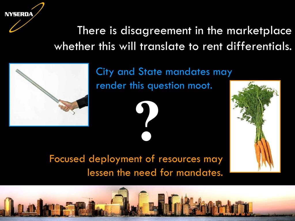 There is disagreement in the marketplace whether this will translate to rent differentials.