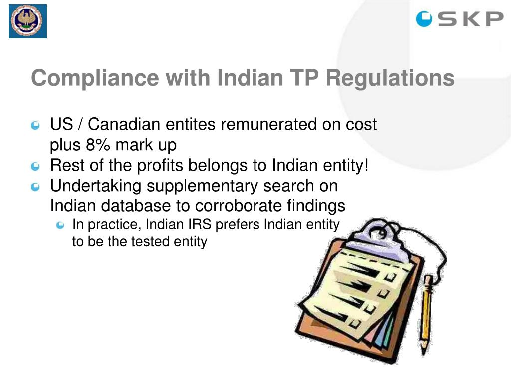 Compliance with Indian TP Regulations