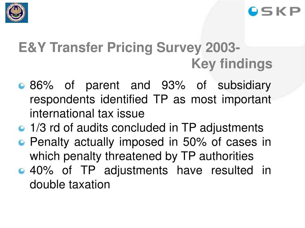 E&Y Transfer Pricing Survey 2003-