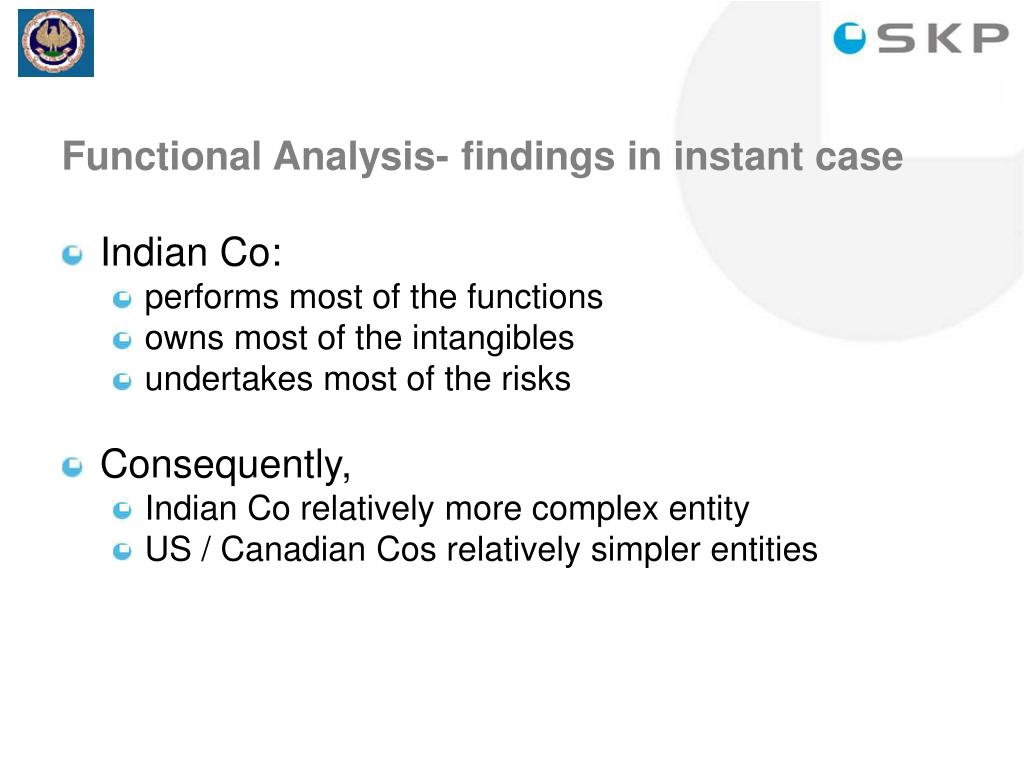Functional Analysis- findings in instant case