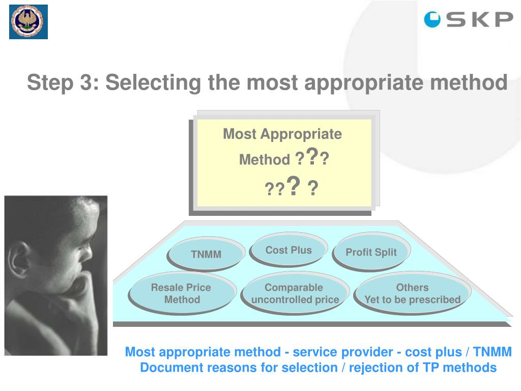 Step 3: Selecting the most appropriate method