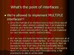 what s the point of interfaces8