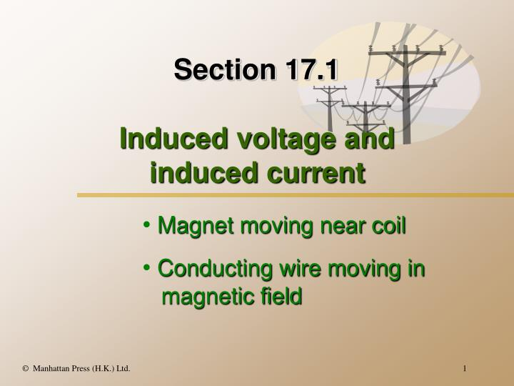 Section 17 1 induced voltage and induced current