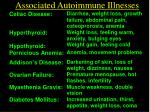 associated autoimmune illnesses