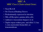 mic a mhc class i chain related genes
