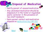 disposal of medication