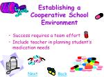 establishing a cooperative school environment