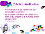 inhaled medication