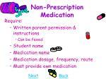 non prescription medication