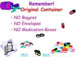 remember original container