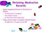 retaining medication records