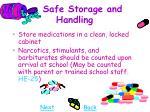 safe storage and handling27