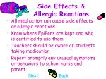 side effects allergic reactions