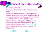 student self medication