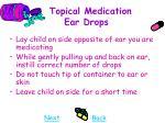 topical medication ear drops