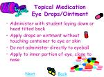 topical medication eye drops ointment