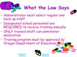 what the law says