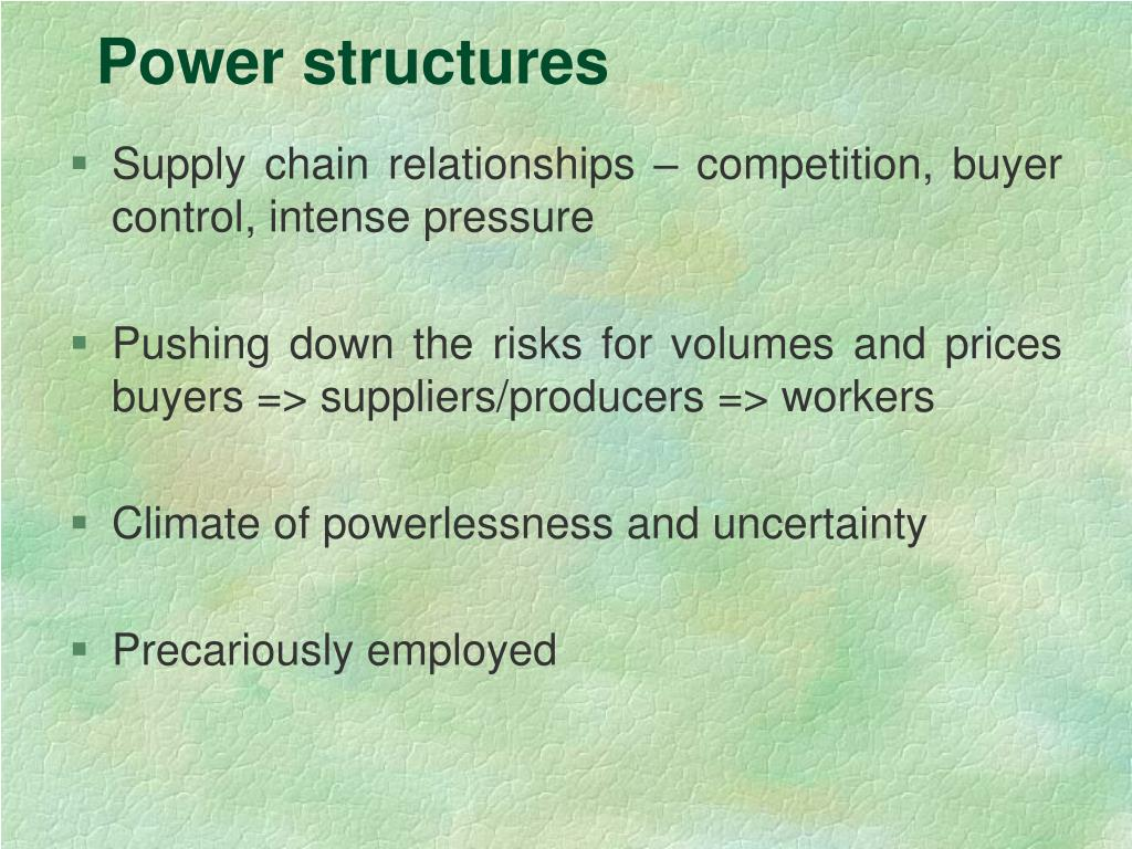 Power structures