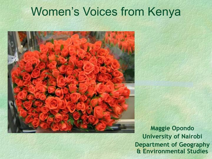 Women s voices from kenya