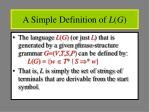 a simple definition of l g