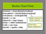 backus naur form