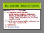 psg example english fragment