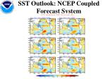 sst outlook ncep coupled forecast system