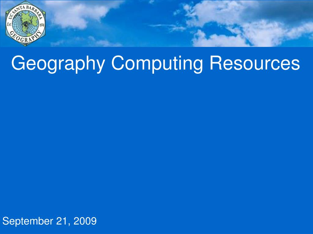 geography computing resources l.