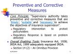 preventive and corrective measures