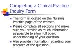 completing a clinical practice inquiry form