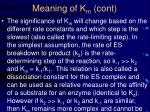 meaning of k m cont