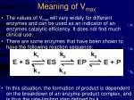 meaning of v max