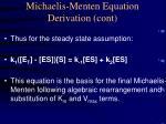 michaelis menten equation derivation cont
