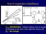 non competitive inhibition